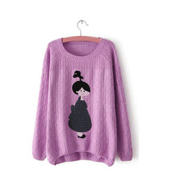 Purple Character Sweater