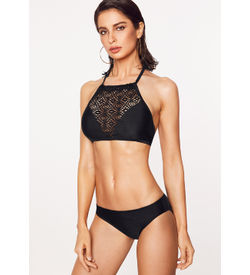 Black Hollow-Out Bikini