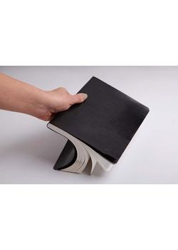 Rubberband A5 Ruled White Notebook Black Pu With 192 Pages