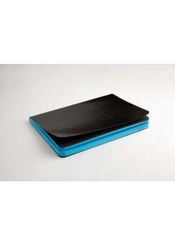Rubberband 95 X 165 Mm Paint Box Series Turquoise Blue Plain Notebook Black Pu And Has 192 Pages