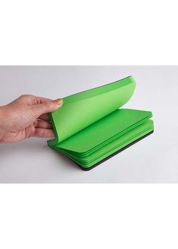 Rubberband 95 X 165 Mm Paint Box Series Parrot Green Plain Notebook Black Pu And Has 192 Pages