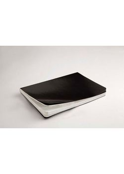 Rubberband A5 Paint Box Series Natural White Checks Notebook Black Pu And Has 192 Pages