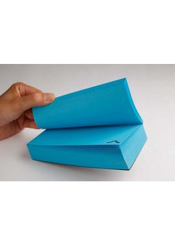 Rubberband Memo Block Note Pad Blue