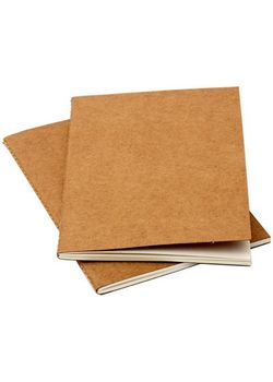Rubberband Slim Series A6 Pack Of Two Plain Notebook Kraft Card Cover 64 Pages