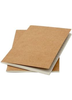 Rubberrband Slim Series A6 Pack Of Two Ruled Notebook Kraft Card Cover 64 Pages