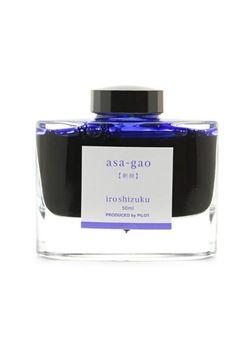 Pilot Ink Bottle Iroshizuku 50-As  Asa-Gao Morning Glory 50 Ml Vivid Purplish Blue