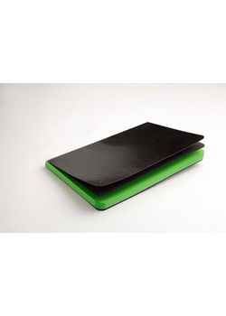 Rubberband Paint Box Series A5, Notebook Black Pu Parrot Green Plain, 192 Pages