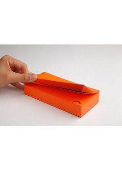 Rubberband Memo Block Note Pad Orange