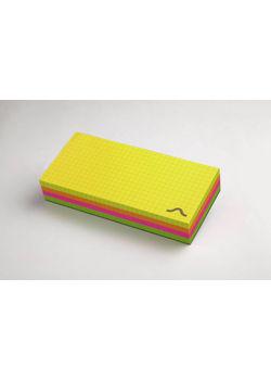 Rubberband Memo Block 70 X160 Mm, Notepad Multi Fluorescent Colour 250 Sheets
