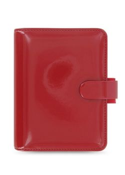 Filofax Patent 022458 Red Pocket Organiser