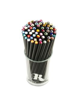 Rubinato Pencil Sw-02 Pencil With Swarovski Stone Pencil Black