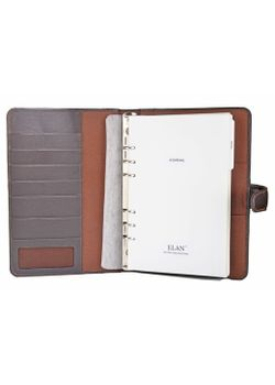 Elan Leather Elj-191 A5 Undated Brown Journal