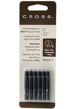 Cross Slim Ink Cartridge  8929-1 Black