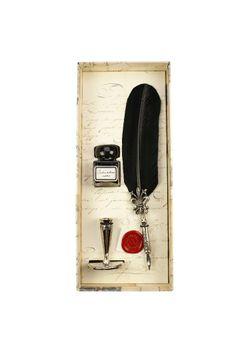 Rubinato Quill Pen 7046 Black Goose Feather