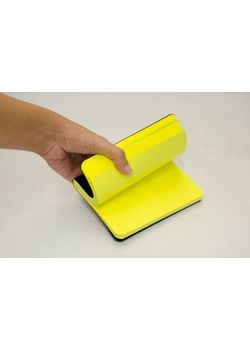 Rubberband A6 Paint Box Series Yellow Plain Notebook Black Pu And Has 240 Pages