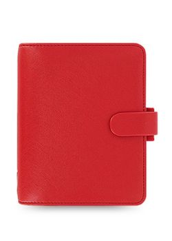 Filofax Saffiano 22471 Poppy Red Pocket Organiser