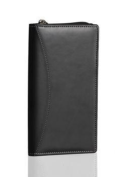 Plan-A-Day Black Travel Wallet