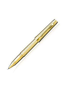 Parker Premium Roller Ball Pen Gold Chisell Premier