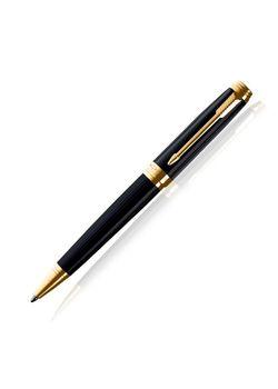 Parker Premium Ball Pen Black Lacquered Gt Ambient