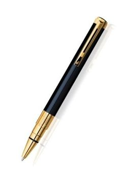 Waterman Ball Pen Perspective Gold Trim Black