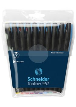 Schneider Fineliner Topliner 967 196790 Set Of 10 ASST