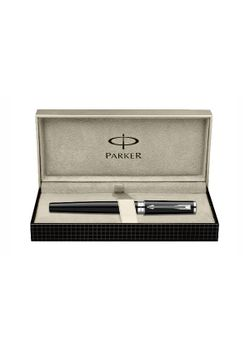 Parker Premium 5Th Generation Pen Black Lacquered Ct Ingenuity Fiber Tip - Medium Point