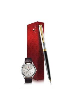 Sheaffer Ball Pen 9475 Sagaris Series + Wrist Watch
