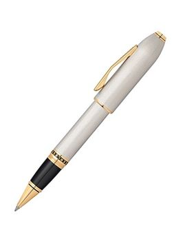 Cross Roller Ball Pen Peerless 125 AT0705-2 Special Edition Platinum Plated Medalist