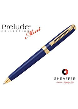 Sheaffer Ball Point Pen Prelude Mini 9808 Gold Trim Blue