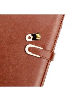 Pennline Powerbank Organizer with 16 GB Pendrive Tan colour