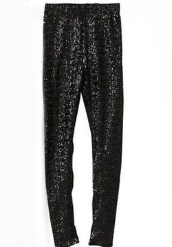 Black Sequin Shimmer Leggings