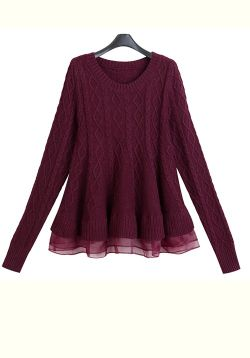 Maroon A-Line Pullover
