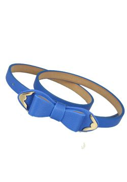 Blue Bow Belt