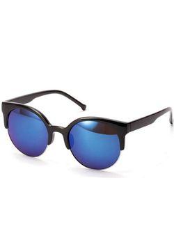 Blue Reflective Cateyed Sunglasses