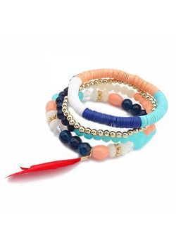 Feather And Beads Bracelet