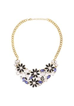 Classy Navy Cluster Necklace