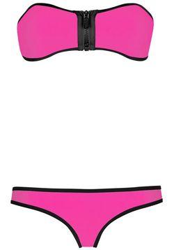 Hot Pink Bandeau Bikini