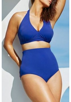 Blue High-waisted Bikini
