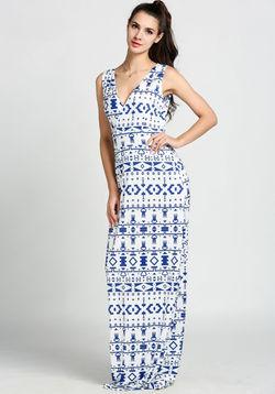 Blue Moroccon Maxi
