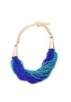 Blue Bauble Neckpiece