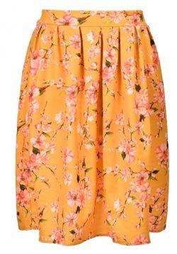 Spring Orchid Midi Skirt