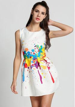 Color Splash Skater Dress