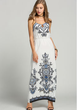 Ethnic White Day Maxi
