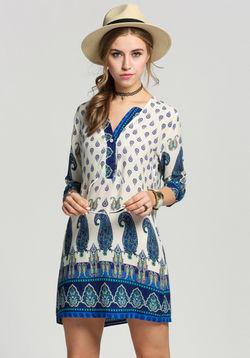 Paisely Print Dress