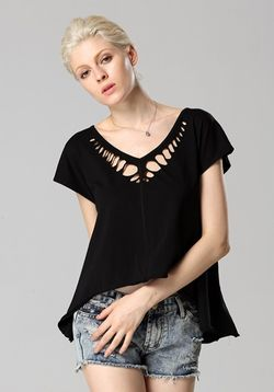 Black Cutwork Top