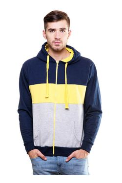 Cut & Sew Sweatshirt with Hood & Zip