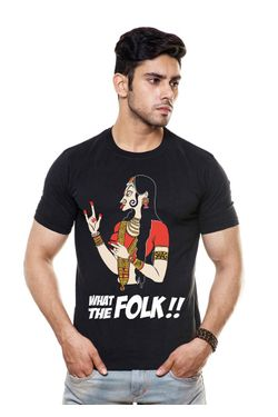 Wat the folk Round Neck T Shirt