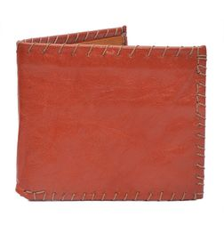HIDEMARK VINTAGE STYLE LEATHER WALLET - REDDISH ORANGE
