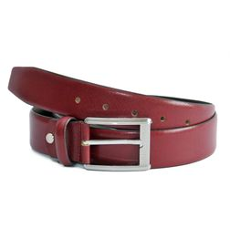 RED ITALIAN LEATHER BELT