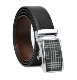 BUSINESS REVERSIBLE LEATHER BELT WITH EXQUISITE AUTO LOCK BUCKLE